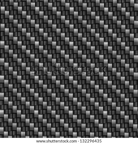 Seamless  carbon fiber illustrated background - stock photo