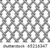 Seamless chainlink fence on white. Isolated 3D image - stock photo
