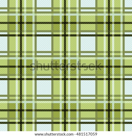 Seamless checkered colorful pattern mainly in green light blue colors