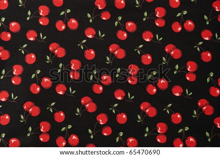 Seamless Cherry Pattern - stock photo