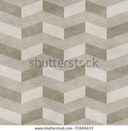 Seamless chevron old paper texture - stock photo