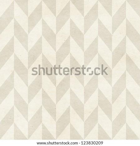 Seamless chevron pattern on paper texture - stock photo