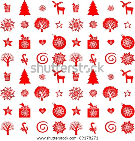 seamless christmas background. Merry christmas wallpaper.  illustration - stock photo
