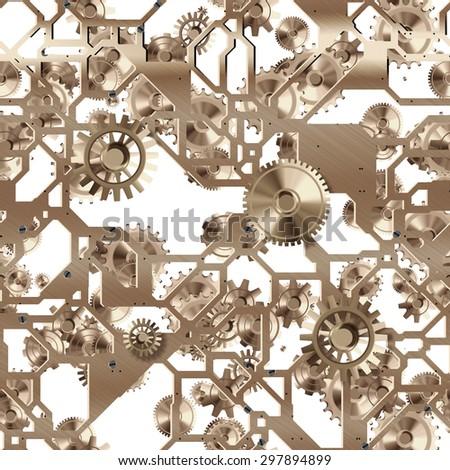 Seamless clockwork pattern   - stock photo