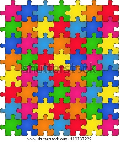 Seamless Colorful shiny Rainbow puzzle