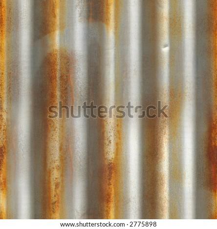 Seamless corrugated iron texture. (Original: #1561392) - stock photo