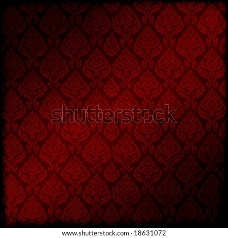 Seamless Damask Background - stock photo