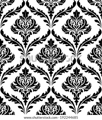 Seamless damask pattern for background or wallpaper design. Vector version also available in gallery - stock photo
