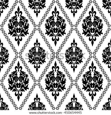 Stylish lace pattern eastern style on stock illustration for Deco baroque