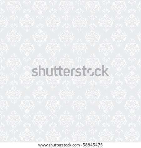Seamless Damask wallpaper - stock photo