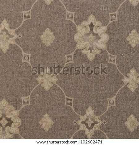 Seamless damask wallpaper texture background - stock photo