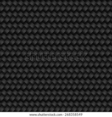 Seamless dark basket pattern. - stock photo