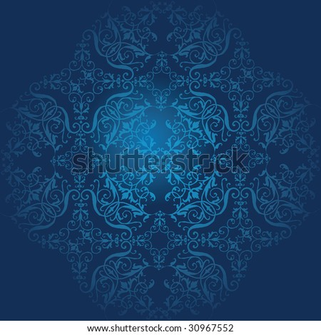 Seamless dark blue Laces baroque pattern. FIND MORE pattern in my portfolio