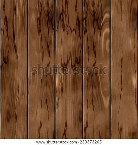 Seamless dark brown mahogany wood texture illustration - stock photo