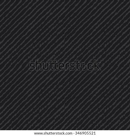 Seamless dark gray ikat diagonal lines hand drawn endless textile pattern