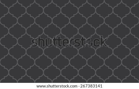 Seamless dark gray wide moroccan pattern - stock photo