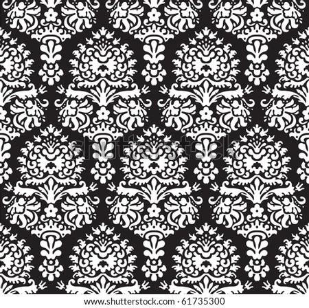 Seamless decorative ornamental fashion wallpaper - stock photo