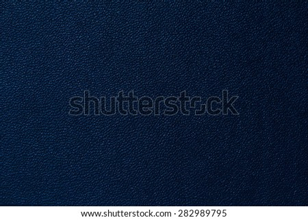 Seamless deep blue leather texture background surface closeup - stock photo