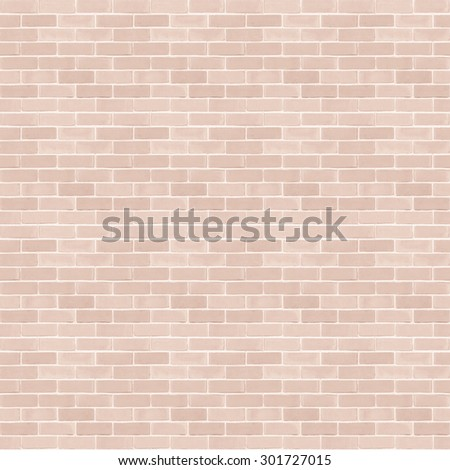 Seamless design style light red brown tone brick wall detailed pattern textured  background: Seamless retro grungy brickwork masonry detail square backdrop in red brown color - stock photo