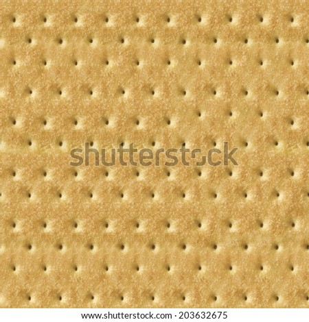 Seamless Detailed Salty Cracker Close-Up Texture - stock photo