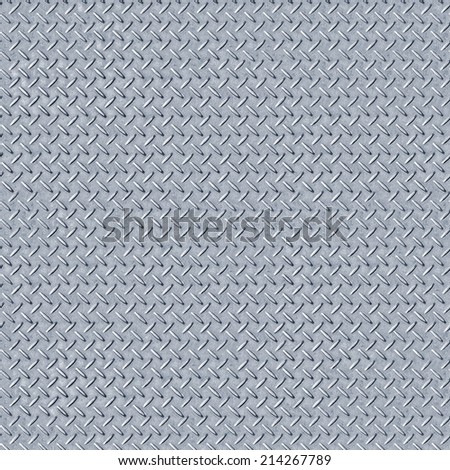 Seamless Diamond Iron Metal Surface Texture Pattern - stock photo