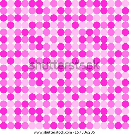 Seamless Disco Dots Pattern - stock photo