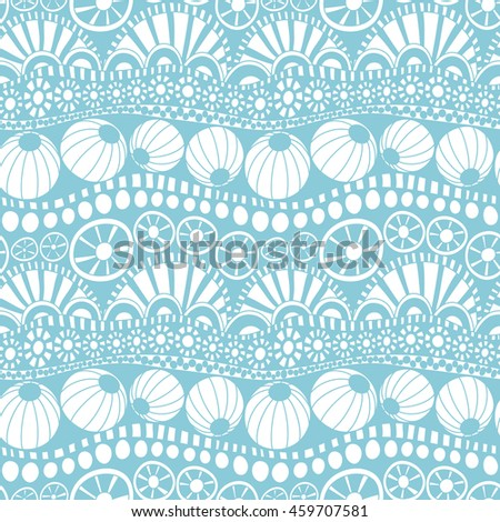 Seamless doodle background. Repeating doodle pattern for textile design, wrapping paper, scrapbooking. .