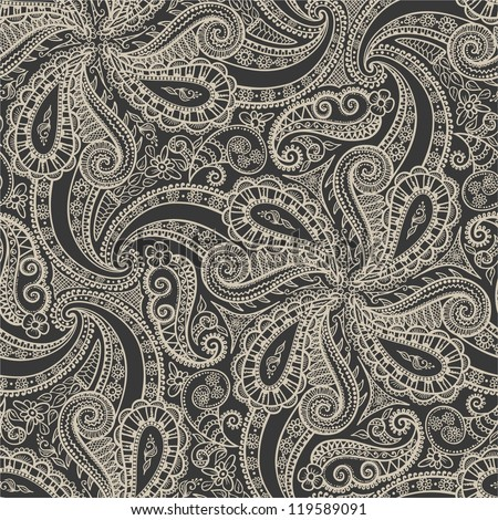 Seamless elegant lace pattern-model for design of gift packs, patterns fabric, wallpaper, web sites, etc. - stock photo