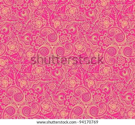 Seamless elegant lace pattern-model for design of gift packs, patterns fabric, wallpaper, web sites, etc.