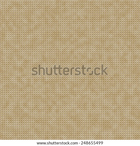 Seamless elevated polka dots background on parchment paper in yellow and gold color