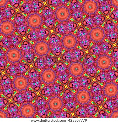 Seamless endless colorful slanting kaleidoscopic illustration for background, design and wallpapers
