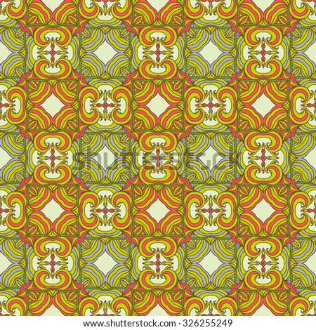 Seamless ethnic print pattern. Abstract ornate background. Suitable for various designs,  fabric, invitation and scrapbooking