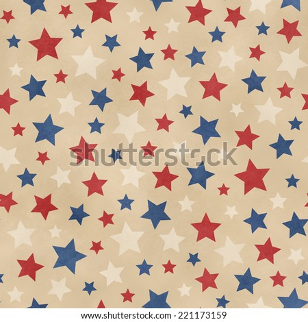 Seamless Faded Star Pattern