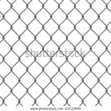 seamless fence isolated - stock photo
