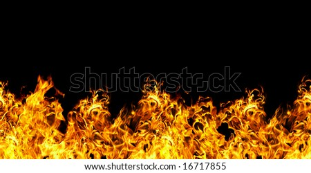 seamless fire  on a black background...