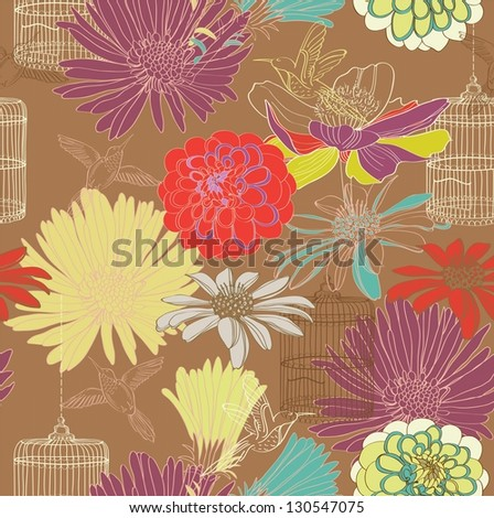 seamless floral pattern for design