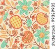 Seamless floral pattern. Vector version is also available - stock photo