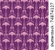 Seamless floral wallpaper in  pink and violet - stock vector