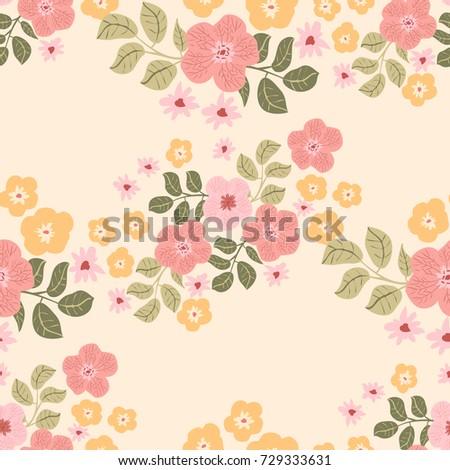 Seamless folk pattern miniature pretty flowers stock illustration seamless folk pattern in miniature pretty flowers country style millefleurs floral meadow background for mightylinksfo