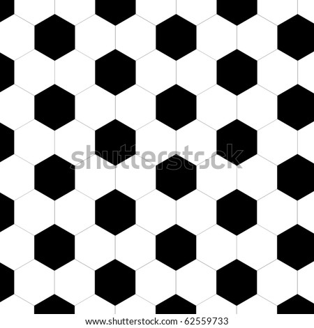 Seamless football pattern - stock photo