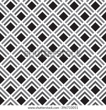 Seamless geometric background made from black , grey and white mosaic squares.  - stock photo
