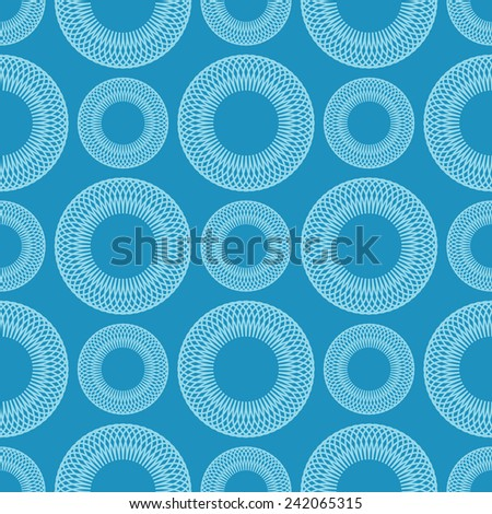 Seamless geometric   background of circles spirographic - stock photo