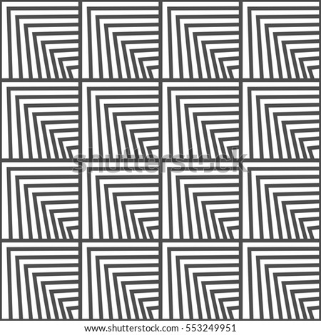 Seamless geometric pattern. Black and white color