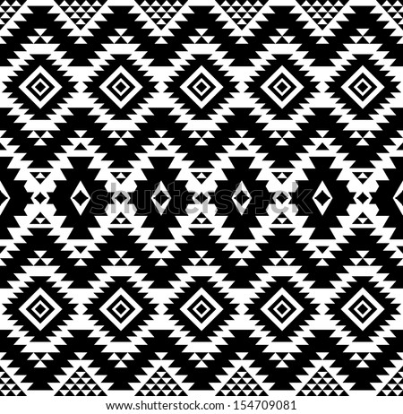 Seamless geometric pattern in ethnic style  - stock photo