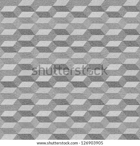 Seamless geometric pattern on textured paper - stock photo