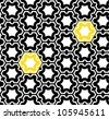 Seamless geometric pattern. Op art design. Raster version - stock vector