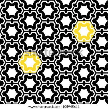 Seamless geometric pattern. Op art design. Raster version