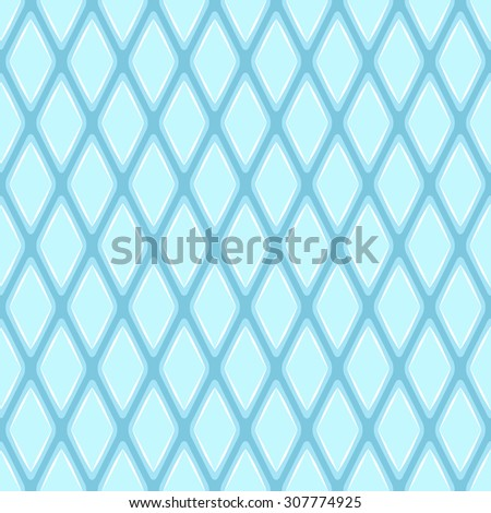 Seamless geometric pattern with blue rhombs. Raster version