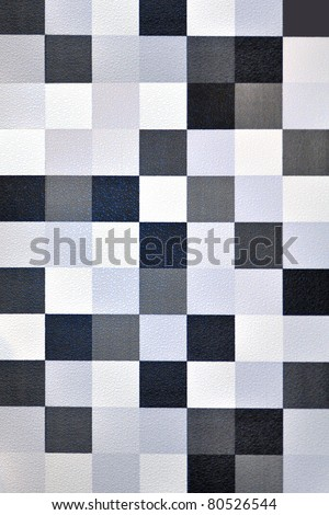 Seamless geometric wallpaper background (blue tone) - stock photo