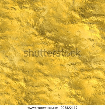 Seamless gold texture - stock photo